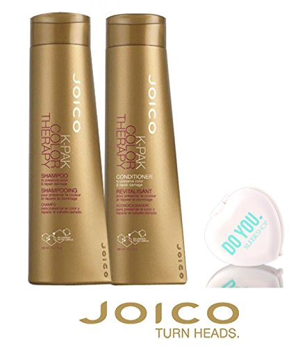 - Joico K-Pak Color Therapy Shampoo & Conditioner DUO SET - to preserve color & repair damage (with Sleek Compact Mirror) (10.1 oz / 300ml DUO Kit)