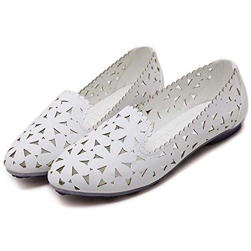 peu Flats bateau Casual Chaussures Blanc Sandales bout Out Creux pointu Chaussures profonds Hattie à Femmes Mocassins I7wq4TnxA