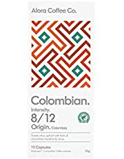 Alora Coffee Co, 1 pack of 10 Nespresso Compatible pods (10 pods total), Colombian