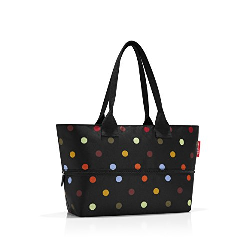 reisenthel Shopper E1, Expandable 2-in-1 Tote, Converts from Handbag to Oversized Carryall, Dots