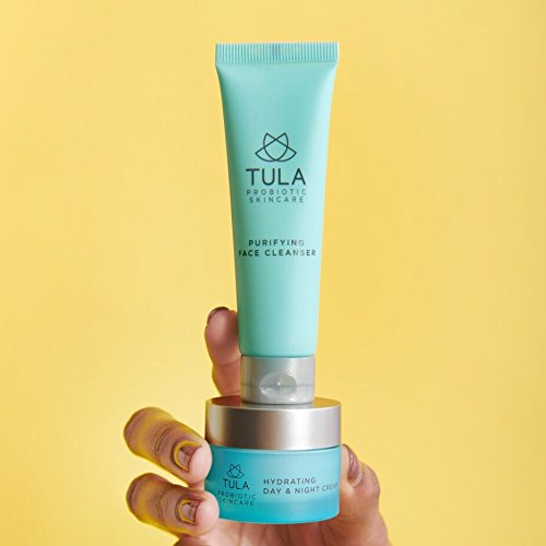 TULA Probiotic Skin Care Mini Best Sellers Kit - Travel-friendly kit with Purifying Cleanser and Mini Hydrating Day & Night Cream for Healthy and Hydrated Skin by TULA Skin Care (Image #2)
