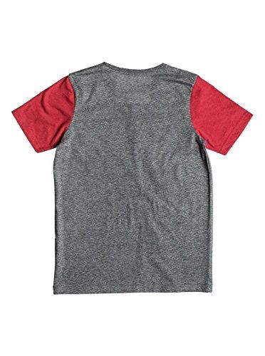 Quiksilver Heather Fries - Camiseta para Chicos, Color: MEDIUM GREY HEATHER, Talla: M/12 (Niños/Kids)