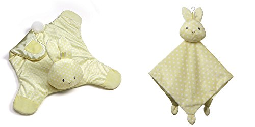 GUND Roly Polys Bunny Comfy Cozy Blanket and Lovey Security Blanket Bundle