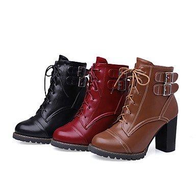 pwne Zapatos De Mujer Botas Primavera/Otoño/Invierno Tacones/Plataforma/Moda Botas/Bootie/Round Toe Carrera Office/Vestir/Ocasionales US8.5 / EU39 / UK6.5 / CN40