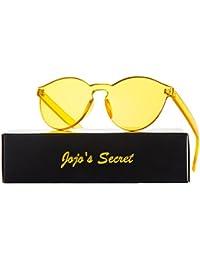 One Piece Rimless Sunglasses Transparent Candy Color Eyewear JS017