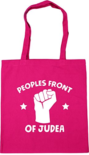 HippoWarehouse Peoples front of Judea Tote Shopping Gym Beach Bag 42cm x38cm, 10 litres Fuchsia