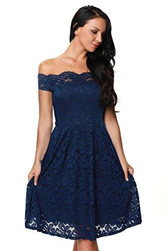 Gathered Blue (Elegant Women's Luxury Lace Off-The-Shoulder Short Sleeve Formal Dresses Womens Dresses for Women Plus Size Blue)