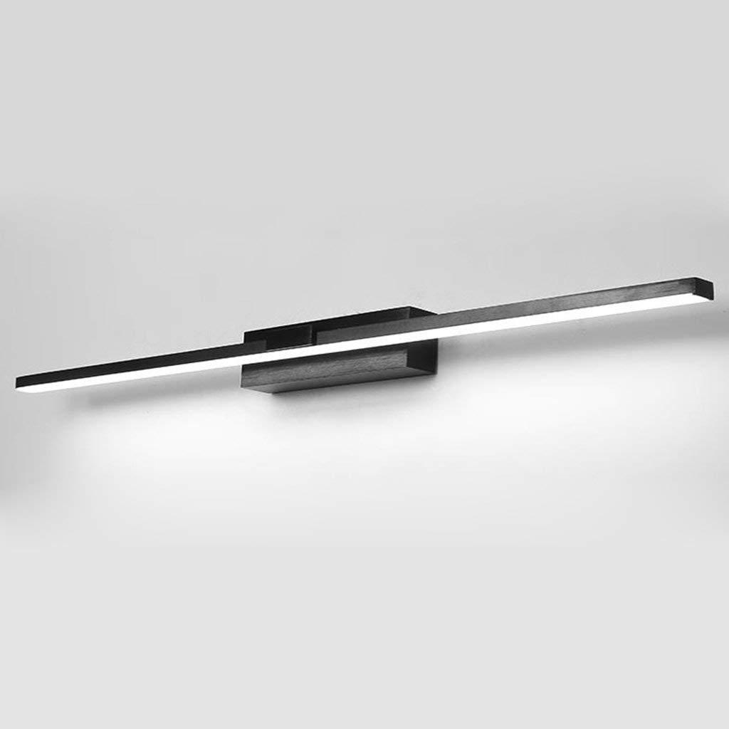 schwarz-23w100cm Badezimmerspiegel Beleuchtung LED-Spiegel Scheinwerfer, Badezimmer Leuchten einfach wasserdicht Nebel Blinkleuchte Aluminium Spiegel Leuchten (Farbe  Gold-15W 60 cm)