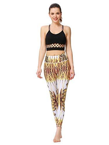 MUMUWU Women Printed Yoga Pants Sport Workout Running Leggings Power Flex Yoga Leggings