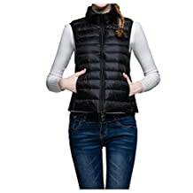 down vest short down jackets waistcoat jacket woman stand-up collar loose coat