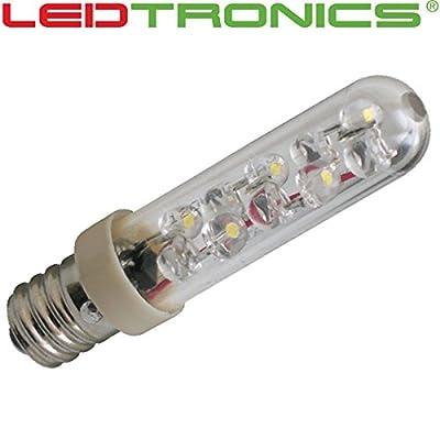 LED T4 Tube Bulb, E12 Candelabra Base, Warm White, 120Vac, 2pc/Pkg