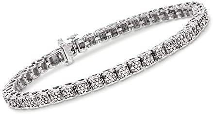 Ross-Simons 1.00 ct. t.w. Diamond Bracelet in Sterling Silver