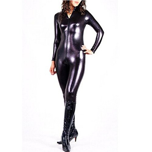 - 41R2dsNaG3L - Partiss Womens Shiny Metallic Bodysuits Costumes