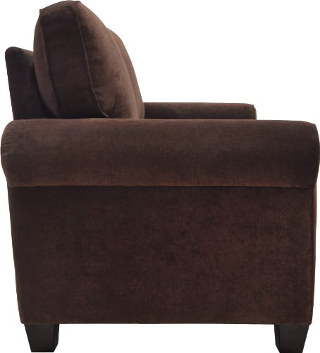 """Truly Home Whitney Sofa 73"""" in Windsor Brown - Bring full size comfort into any size space Sink into deep, comfortable modern seating Upgraded single platform base for extra strength and durability - sofas-couches, living-room-furniture, living-room - 41R2e41GcyL -"""