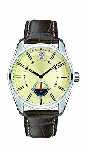 Scuderia Ferrari GTB Champagne Dial SS Leather Multi Quartz Male Watch 830232 - Champagne Dial Watch