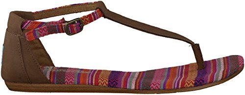 Toms Women's Playa Sandals Brown Leather Woven Sandal 9.5 Women US
