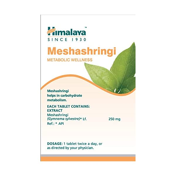 bottle containing Meshashringi Tablets for diabetes