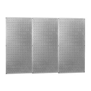 Wall Control - 35-P-3248GV - 32 x 48 20 ga. Steel Pegboard with 600 lb. Load Rating, Metallic