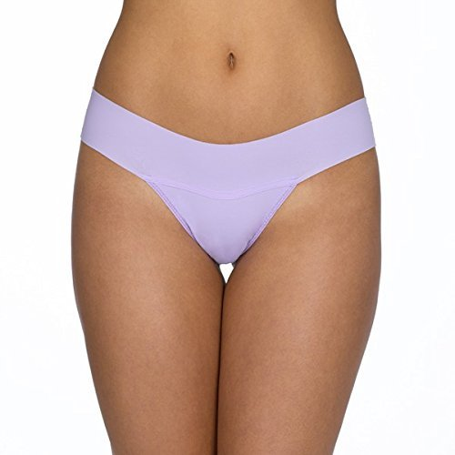 HANKY PANKY Bare Eve Natural Rise Thong in Wisteria (XS)-6J1661P