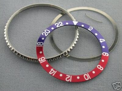 Bezel & Insert for Rolex Blue/Red Gmt 16700 Sapahire