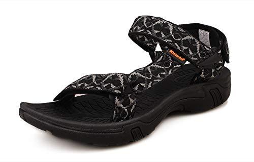 - Kunsto Men's Sport Sandal Shoes US Size 12 Heather Gray