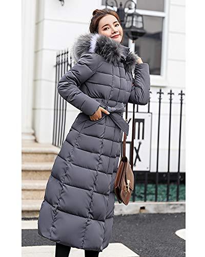 Automne La Long D'hiver Veste Fourrure Femmes Veste D'hiver Élégant Gris Vers Bas Manteau À Vestes Plus Taille Le Capuche Veste Yanlian 46tqPpw