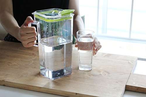 Komax Tritan Clear Large (2 quart) Pitcher With Green Lid BPA-Free - Great for Iced tea & Water by Komax (Image #5)