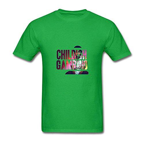 Men's Childish Gambino Because The Internet Design Short Sleeve T Shirts