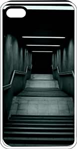 Descending Stairs To Nowhere White Plastic Case for Apple iPhone 5 or iPhone 5s