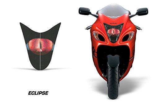 AMR Racing Sport Bike Headlight Eye Graphic Decal Cover for Suzuki Hayabusa 1300 08-14 - Eclipse Red
