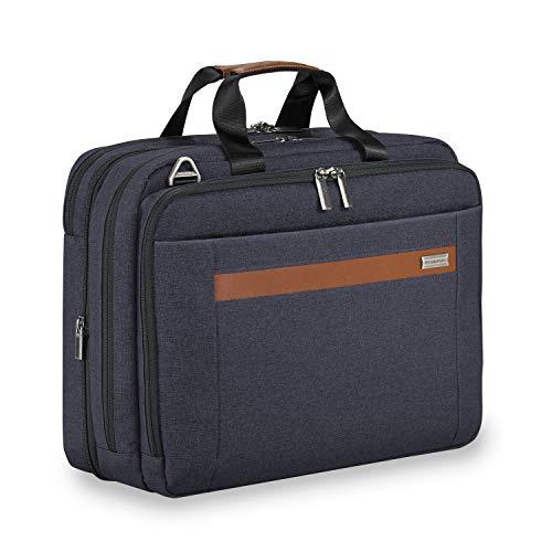 Briggs & Riley Kinzie Street Medium Expandable Brief Briefcase, Navy, One Size ()