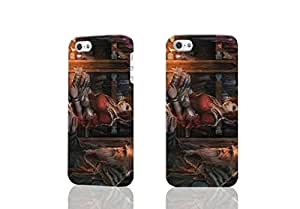 Diablo 3 Library 3D Rough New Design iphone 5/5s Case Skin, fashion design image custom iPhone5 5s, durable iphone 5 hard 3D case cover for iphone 5s Case
