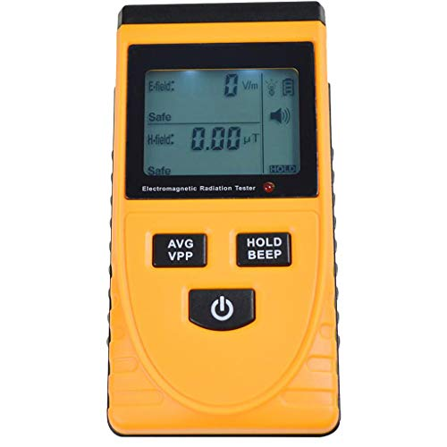 UMFun Digital LCD Electromagnetic Radiation Detector Dosimeter Tester Meter Counter Yellow