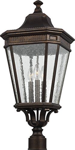 Feiss OL5428GBZ Cotswold Lane Outdoor Post Lighting, Bronze, 3-Light (12