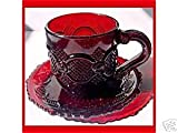 avon dishes - Avon Cape Cod Ruby Red Cup Saucer Set
