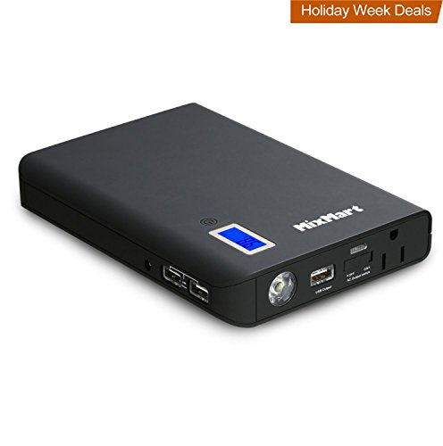MixMart 24000mAh Power Bank with 3-USB Ports & 1-AC Outlet for All Laptops, Tablets, Smartphones by MixMart