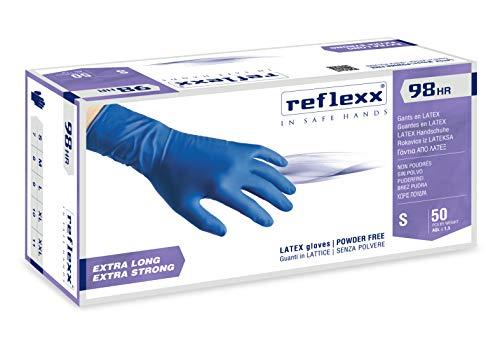 Reflexx R98 handschoenen hirisk latex poedervrij L blauw 50