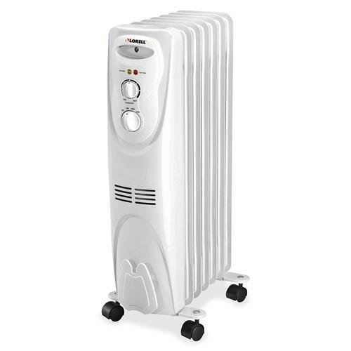 29552 Lorell Radiator Heater - Oil Filled - Electric - White by Lorell