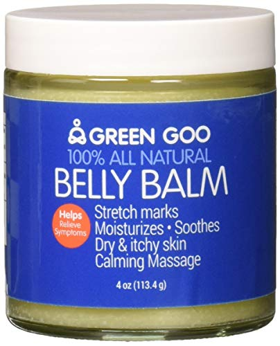 Green Goo All-Natural Skin Care, Belly Balm, Jar, 4 Ounce
