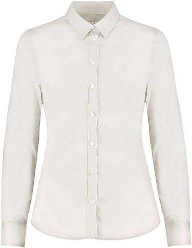 KUSTOM KIT - Camisa Oxford de Manga Larga y elástica para Mujer señora: Amazon.es: Ropa y accesorios
