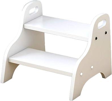 XMGJ Escaleras extensibles Escalera con pasamanos, Escalera de dos pasos para niños Escalera de lavado para el hogar Escalera multicolor simple Tamaño 48 x 38 x 33 cm (Color : White): Amazon.es: