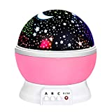 2-10 Year Old Girl Gifts, OPO LED Night Light Lamp Relaxing Light for Kids Moon Star Toys for 2-10 Year Old Girls Gifts for 2-10 Year Old Gifts Girls Toys Age 2-10 Pink OPXKD03