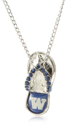 - NCAA Washington Huskies Crystal Flip Flop Necklace