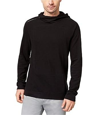 Calvin Klein Mens Ottoman Cross-Stitch Hoodie Sweatshirt