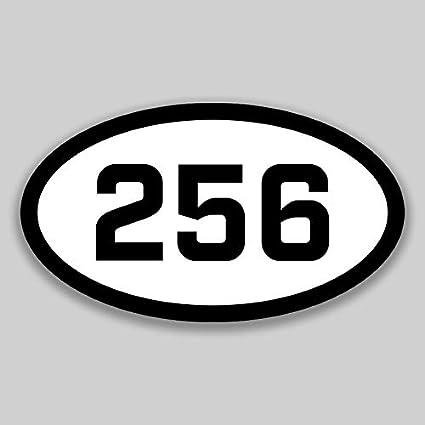 Amazon com: DHDM 256 Area Code Sticker Alabama Huntsville