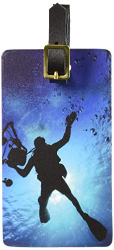 Graphics & More Scuba Diver-Diving Underwater Luggage Tags Suitcase Carry-on Id, White ()