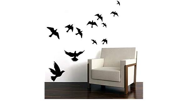 YSYYSH Etiqueta Engomada Hermosa De La Decoración del Hogar De La Etiqueta Engomada del Pájaro De La Pared Etiqueta De La Pared Calcomanía Decoración Socket Pasta Etiqueta de la Pared Mural: Amazon.es: