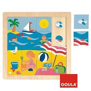 Goula Puzzle verano piezas de madera Diset