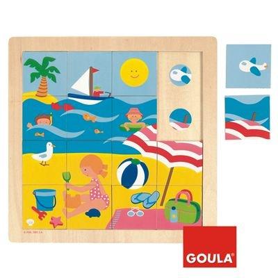 Goula - Puzzle verano, 16 piezas de madera (Diset 53086) product image
