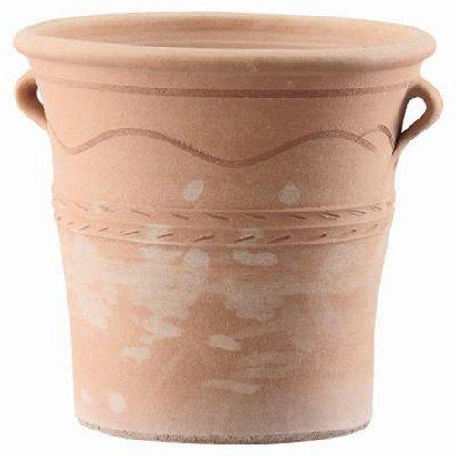 ギリシャ製テラコッタ鉢 クレタ メリッソフラスカΦ40cm 植木鉢 B00G2DKY0U   40cm